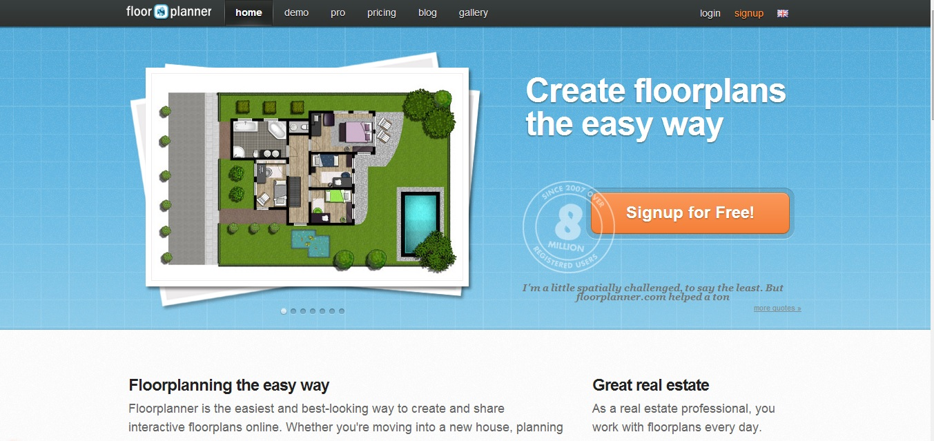 Free Floor Plan Software Floorplanner Homepage