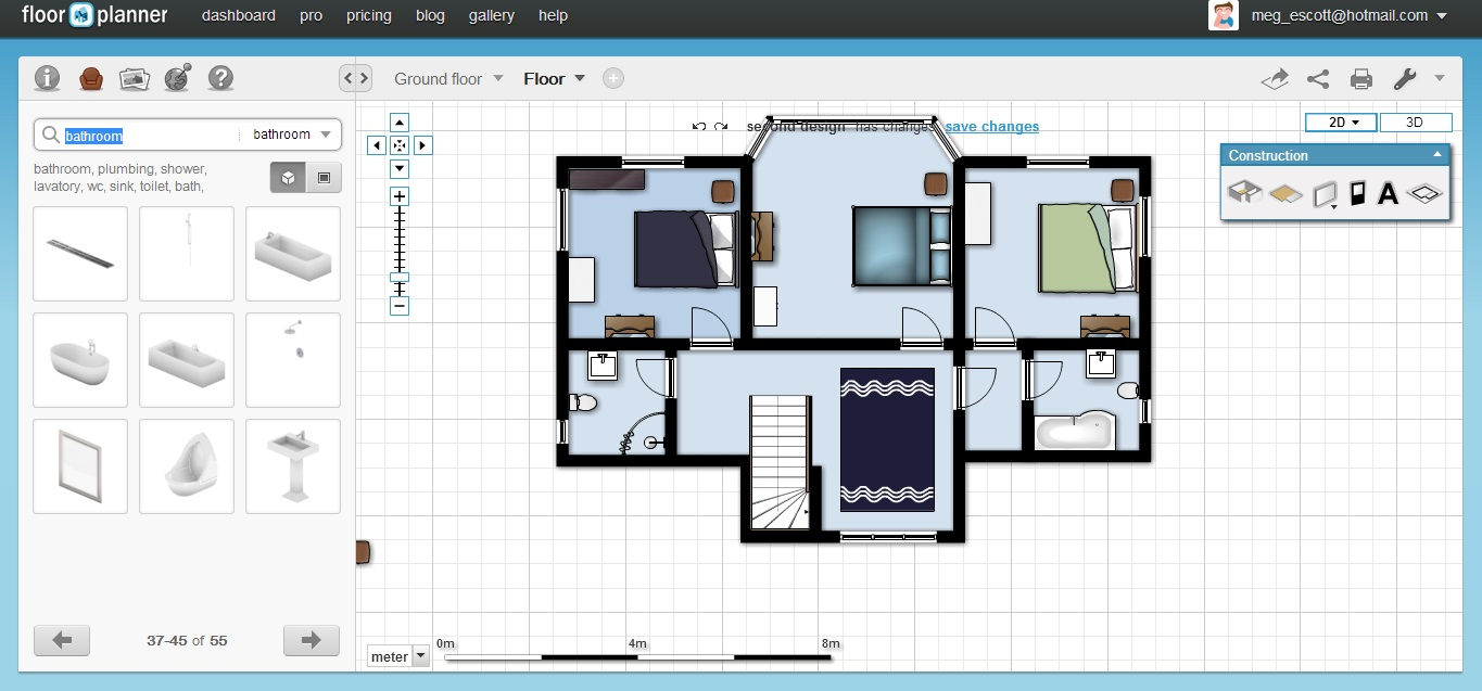Free Floor Plan Software Floorplanner First Floor Furnished
