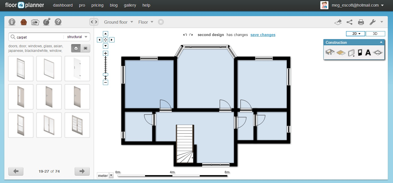 Sketch floor plan modern house Floor plan software
