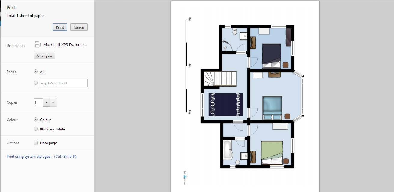Free Floor Plan Software Floorplanner Printing