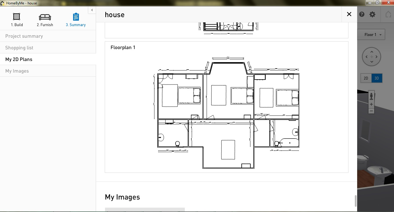 Free Floor Plan Software Home By Me 2D summary first floor