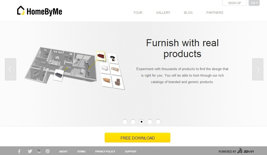 HomeByMe Home Page