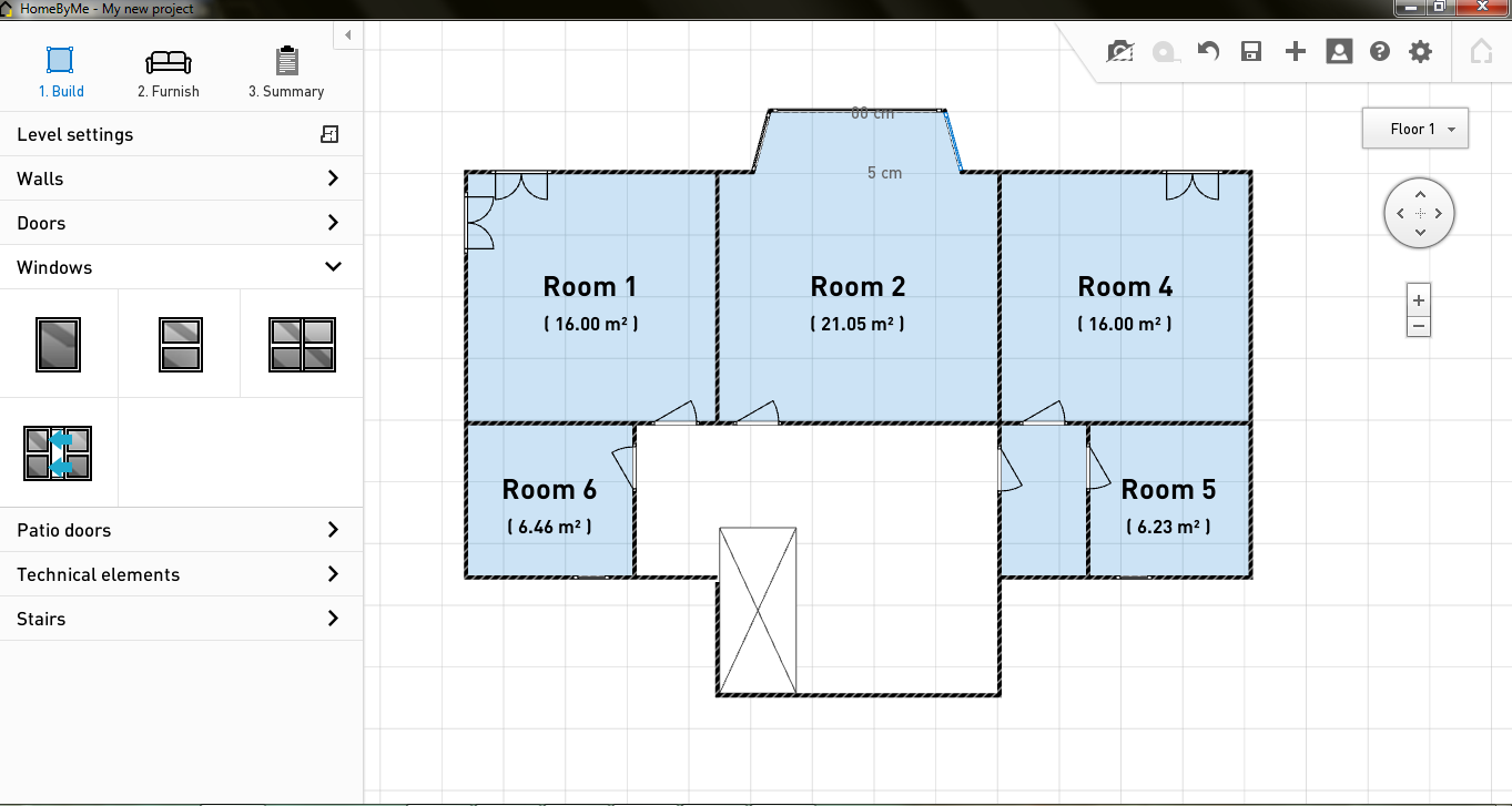 2d home design. HomeByMe First Floor Plan  Free Software Review