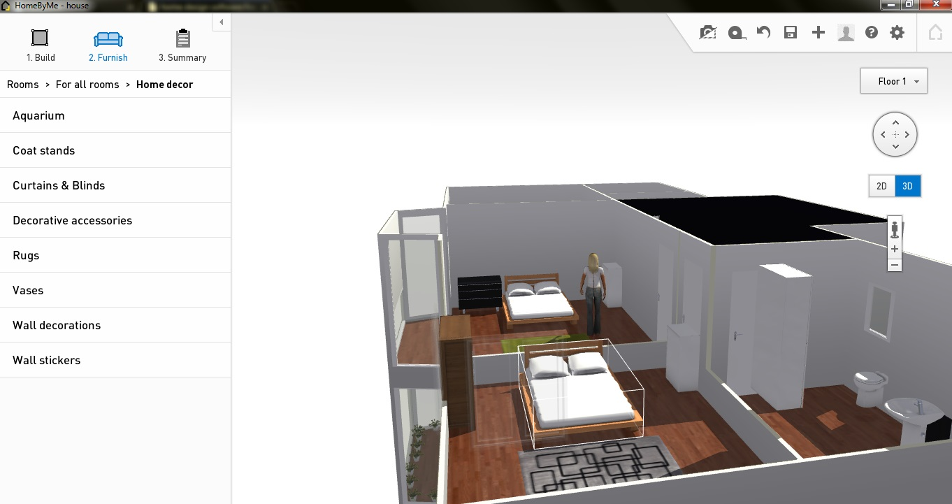 HomeByMe First Floor 3D View