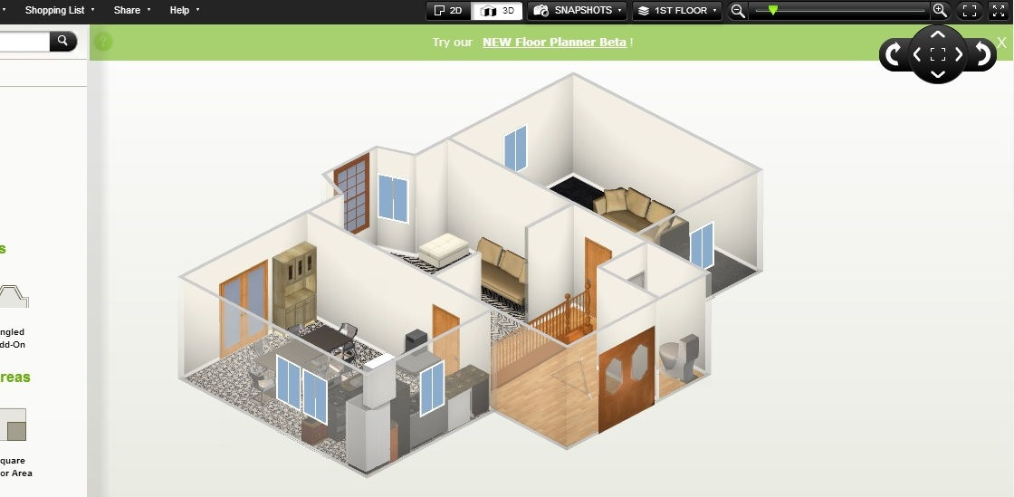 Free Floor Plan Software Homestyler Ground Floor 3D ...