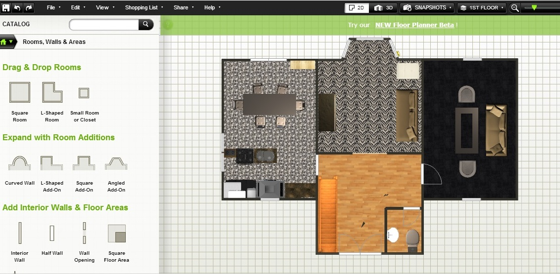 Free Floor Plan Software Ground Floor Furnished