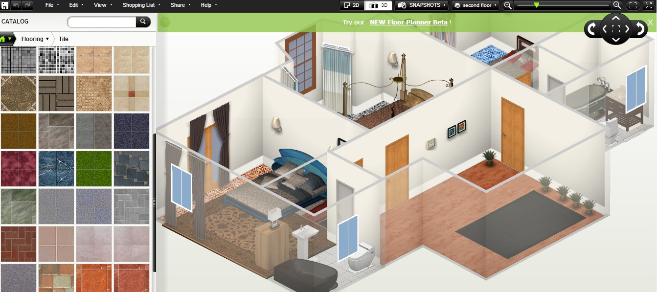 Free Floor Plan Software Homestyler First Floor 3d