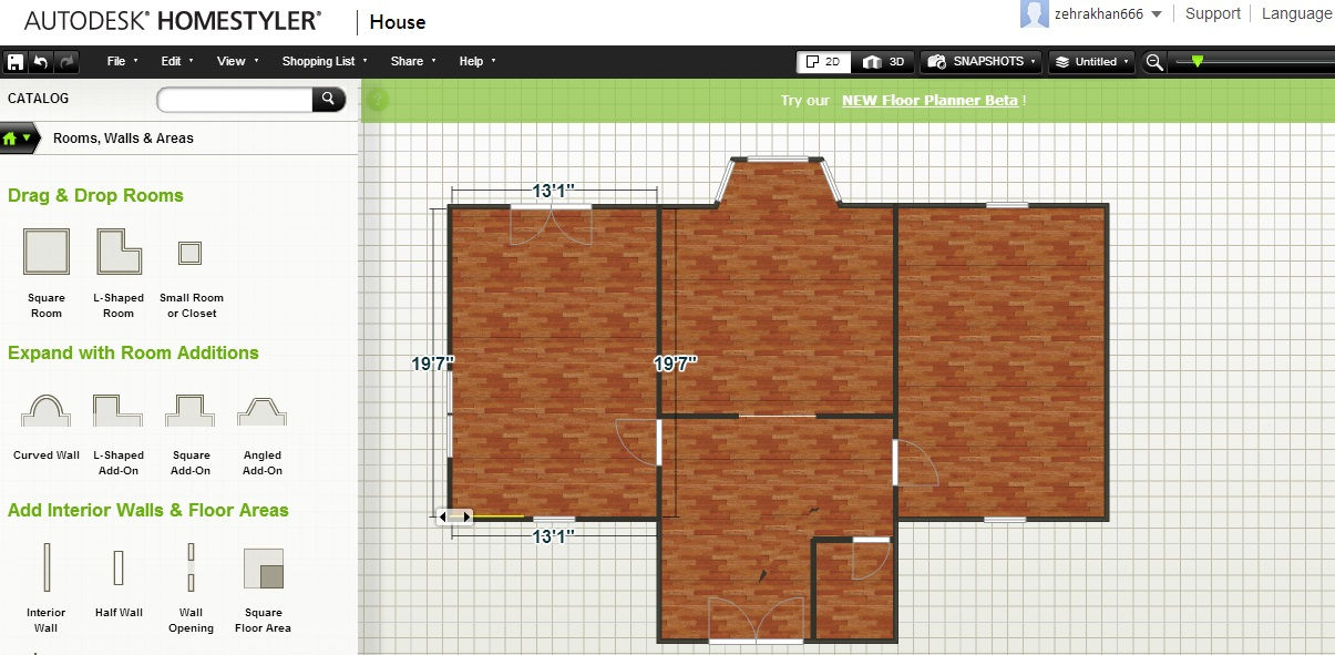 Free Floor Plan Software Homestyler No Furniture ...