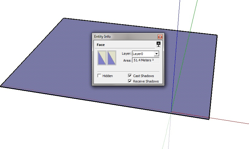 Sketchup review area calculation