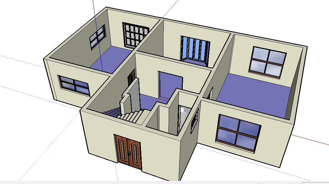 Free floor plan software sketchup review for Minimalist house sketchup