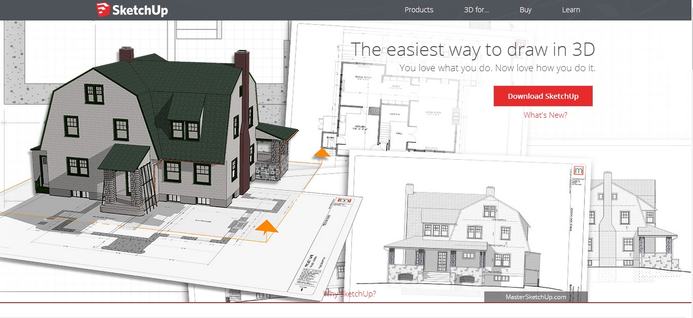 Free floor plan software sketchup review for Blueprint design software