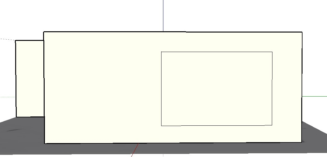 Sketchup review - making a window step 1
