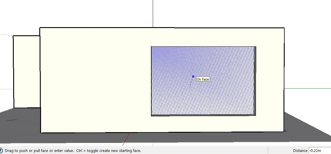 Sketchup review - making a window step 2