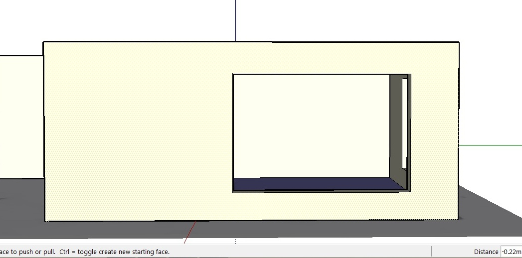 Sketchup review - making a window step 3
