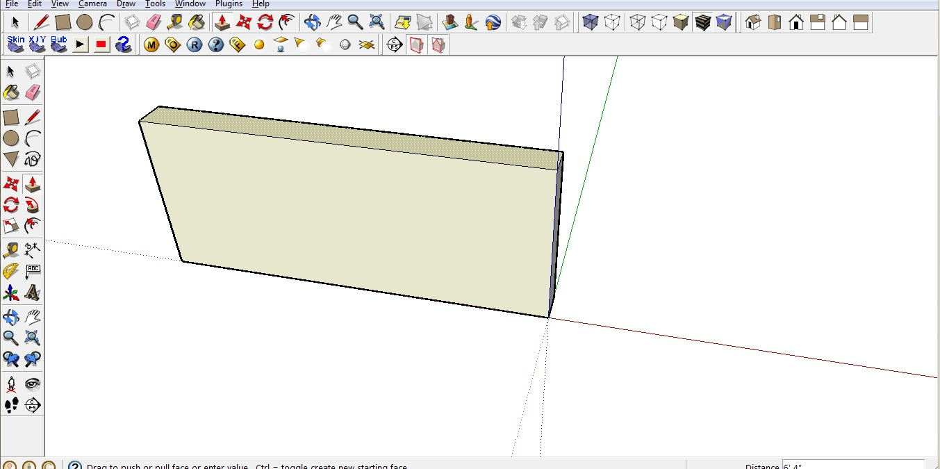 Sketchup review first wall