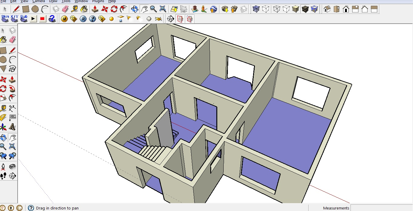 Sketchup house plan