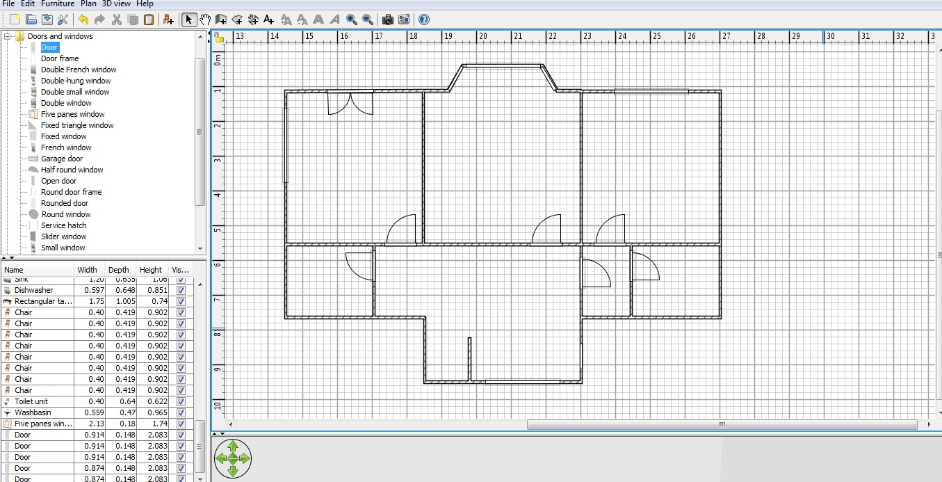 Free floor plan drawing software windows thefloors co for Floor plan drafting software