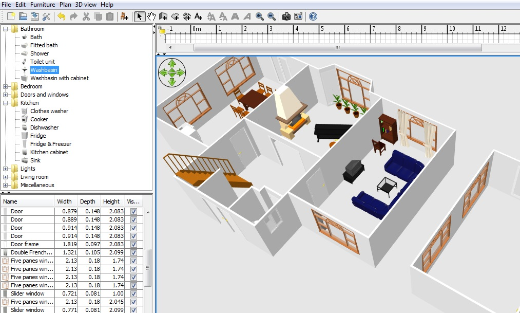 Free floor plan software sweethome3d review for Free office floor plan software