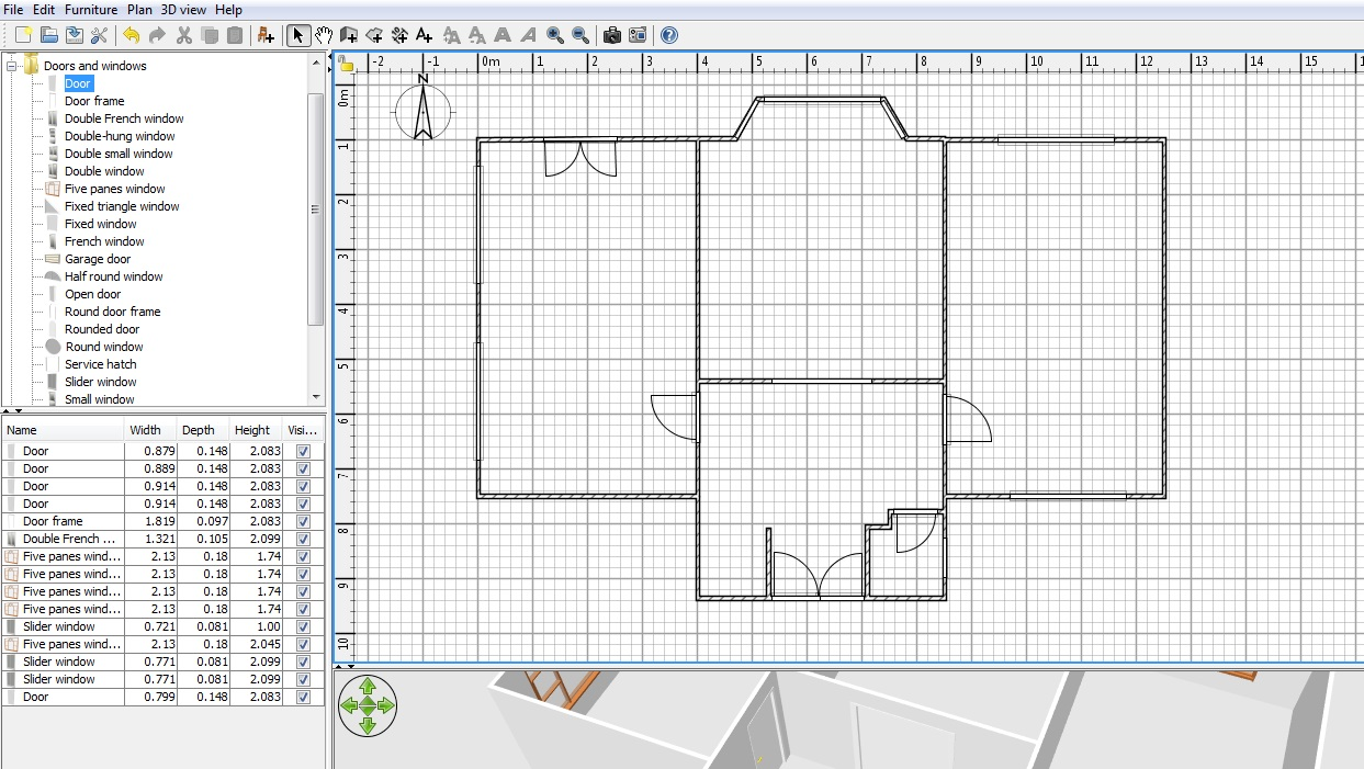 Free floor plan software sweethome3d review for Garage floor plan software