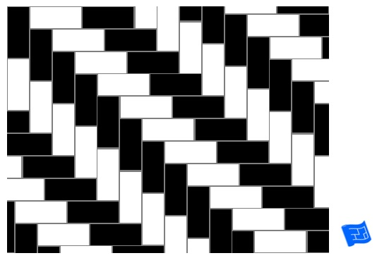 Double herringbone tile pattern - stripe