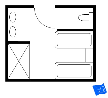 His and hers master bathroom floor plan two baths