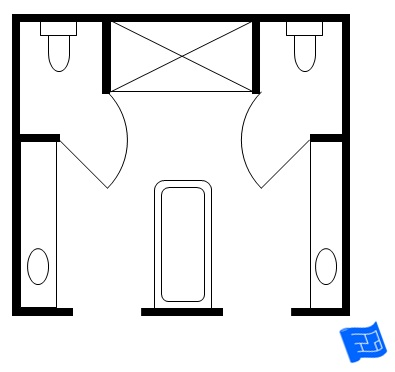 Bathroom floor plans separate toilet 2017 2018 best for Bathroom designs 12x8
