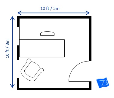 Home office floor plans for 10 x 15 room layout
