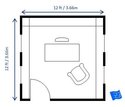 Home office floor plans for What size dining table for 10x10 room