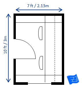 home office floor plan 7 x 10ft 2 people