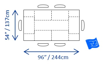 Dining table dining table minimum dimensions - Dimension table 6 personnes ...
