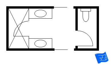 Bathroom Layout Jack And Jill jack and jill bathroom floor plans