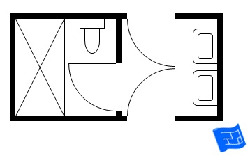 Bathroom Layout Diagram jack and jill bathroom floor plans