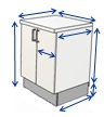 Go to kitchen cabinet dimensions