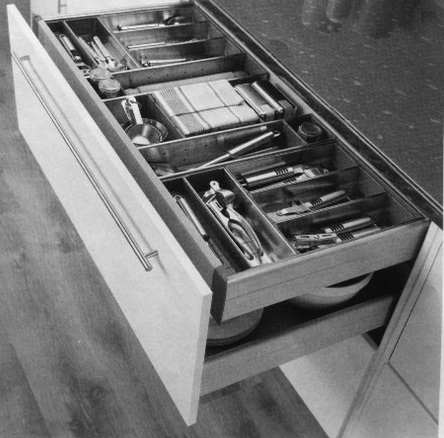 double drawers kitchen storage