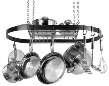 kitchen storage ideas pot rack