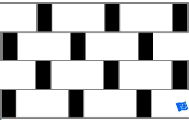 Large and small rectangle tile pattern