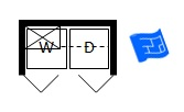 Laundry chute floor plan symbol