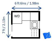 Laundry Room US 6 X 65ft Small Dimensions