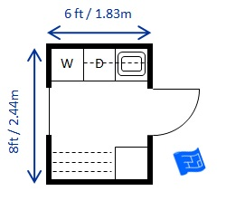 Laundry Room Dimensions on small half bath layout