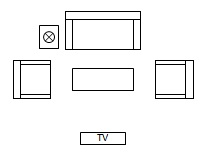 Living Room Floor Plan Symbols