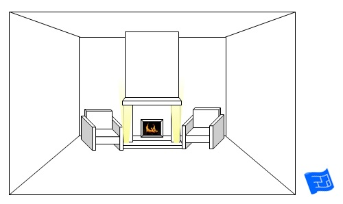 living room lighting ideas fireplace hearth upglow