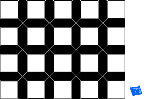 Dijon tile pattern - black border