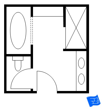 Master bathroom floor plans for Bathroom designs 12x8