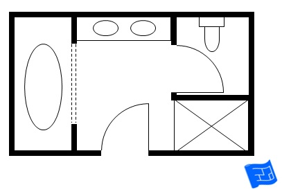 Master Bathroom Floor Plan 2