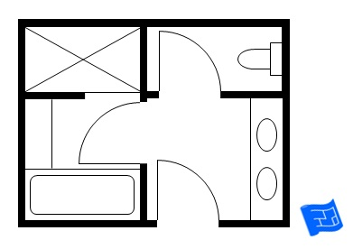 Master bathroom floor plans Small bathroom floor plans australia