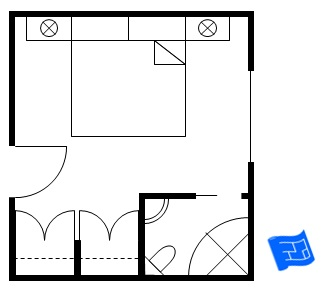 Master Bedroom Floor Plan With Bathroom In Corner