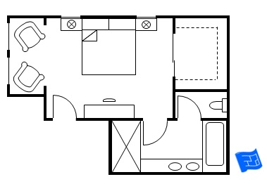 Master bedroom floor plans Bedroom furniture layout plan