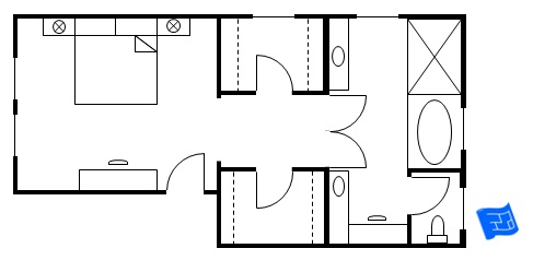 Master bedroom floor plans for Master bath and closet plans