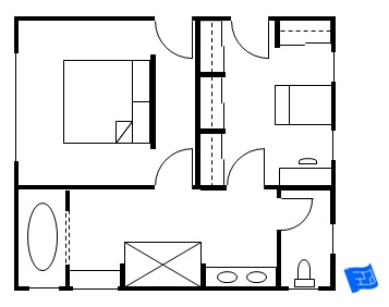 Master Bedroom Floor Plan Entry Into Bedroom And Closet
