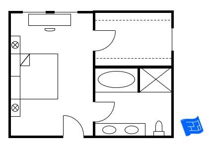 master bedroom floor plan bedroom entry then doors to closet and bathroom - Master Bedroom Floor Plans